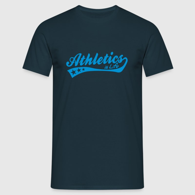 athletics is life - retro T-Shirts - Men's T-Shirt