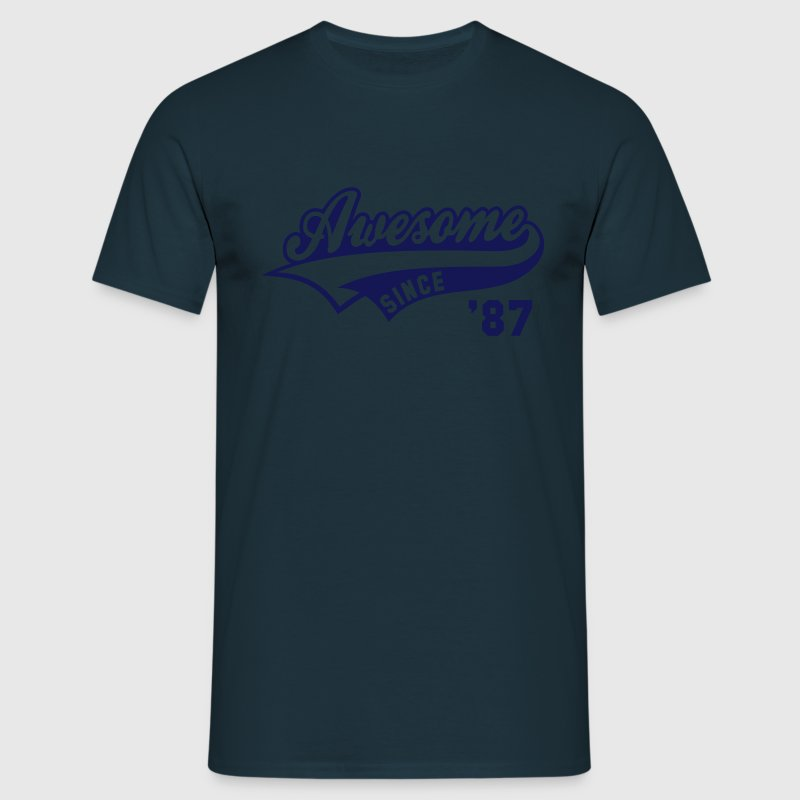 Awesome SINCE 1987 - Birthday Anniversaire T-Shirt WN - Men's T-Shirt
