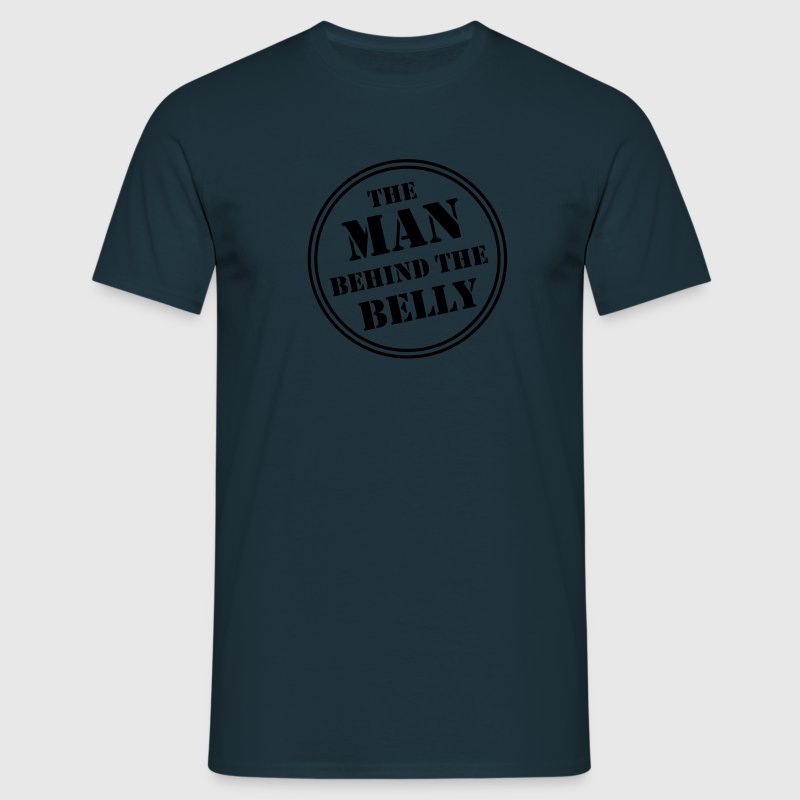MAN BEHIND THE BELLY T-Shirt AN - Mannen T-shirt