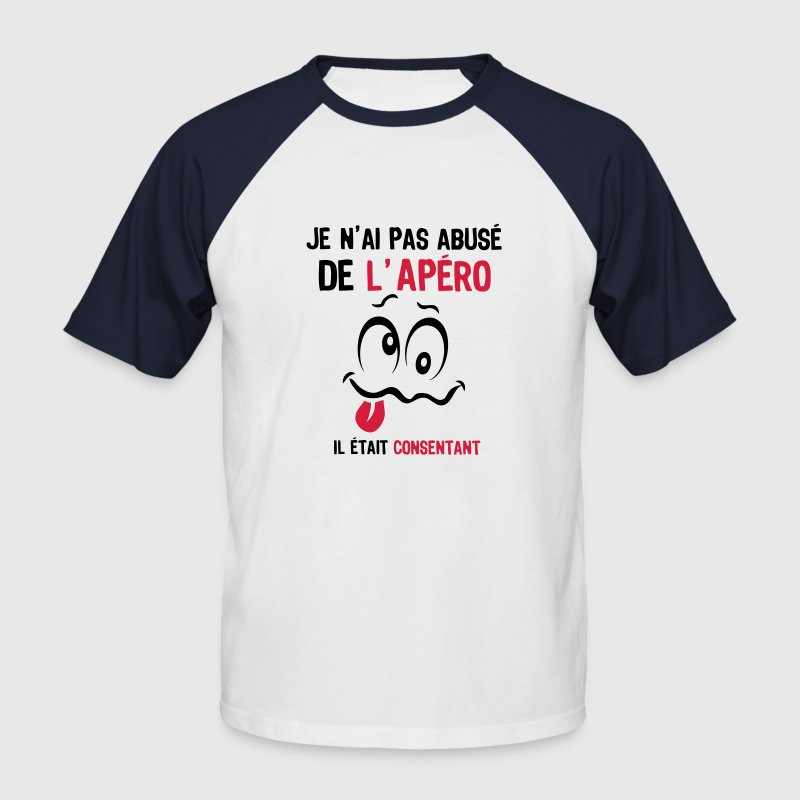 abuse alcool apero consentant smiley1 Tee shirts - T-shirt baseball manches courtes Homme
