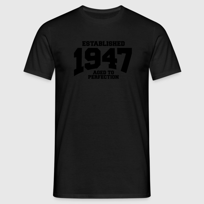 aged to perfection established 1947 (dk) T-shirts - Herre-T-shirt