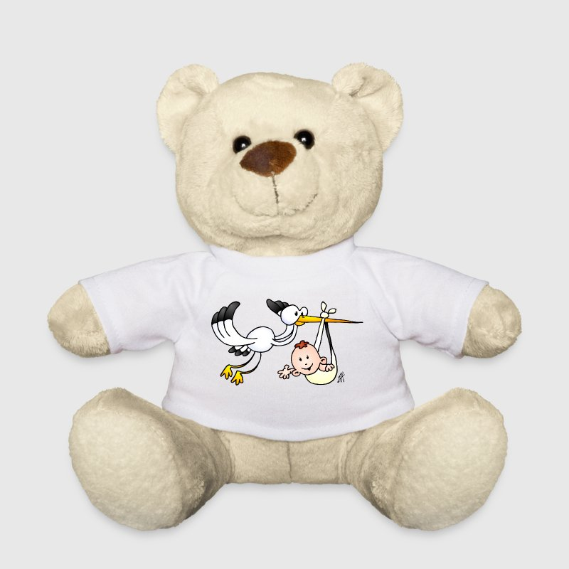 The stork brings the baby. Teddies - Teddy Bear
