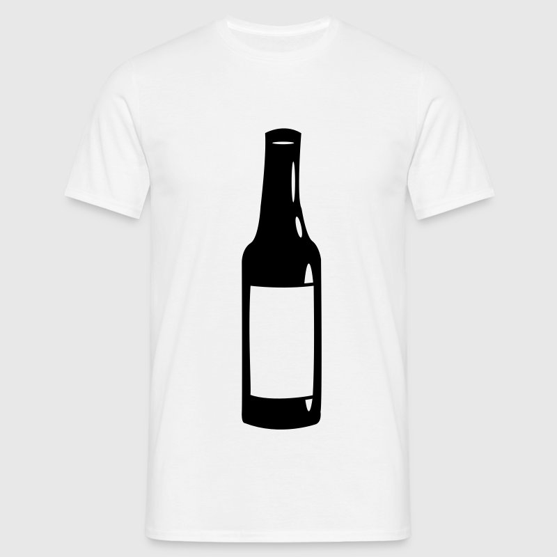 Øl / Bottle Design - T-skjorte for menn