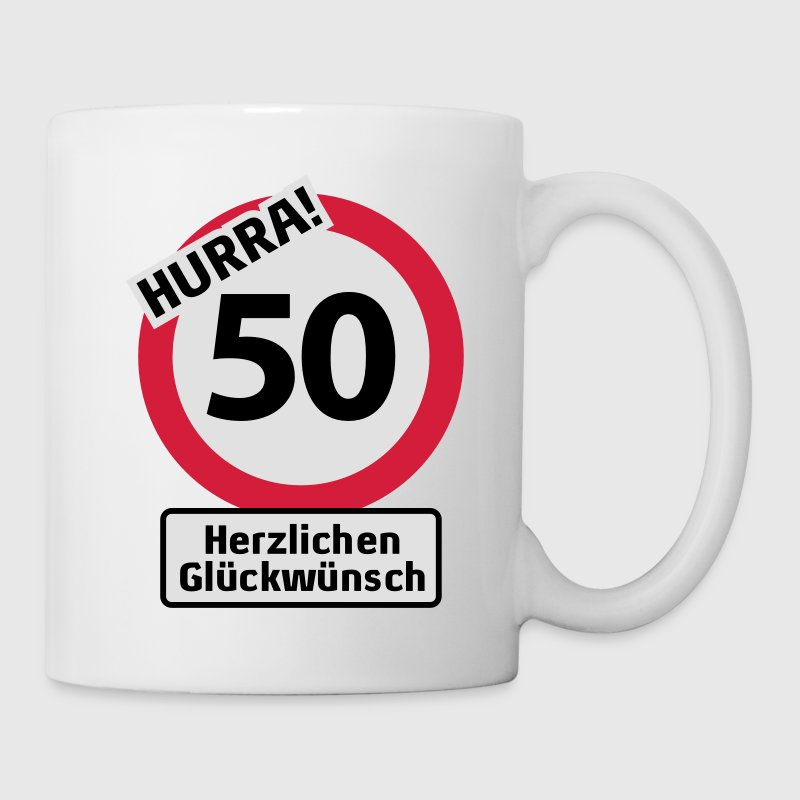 hurra 50 geburtstag herzlichen gl ckw nsch t shirts bedrucken tasse spreadshirt. Black Bedroom Furniture Sets. Home Design Ideas