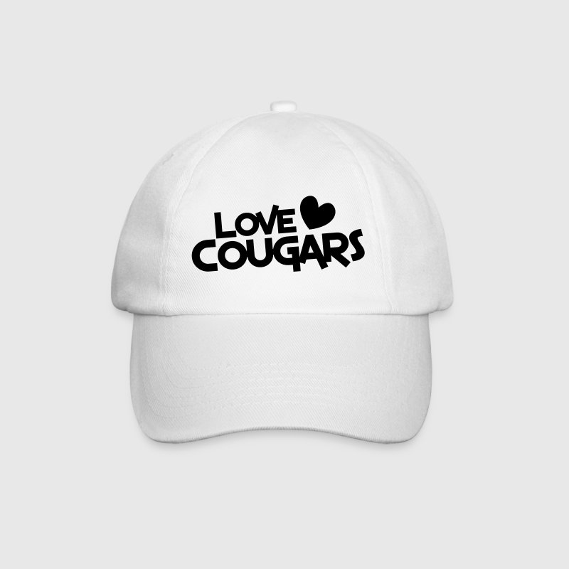 love cougars with heart funny cougar hunter Caps & Hats - Baseball Cap