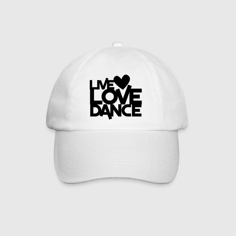 LIVE LOVE DANCE design dancer dancing fitness Caps & Hats - Baseball Cap