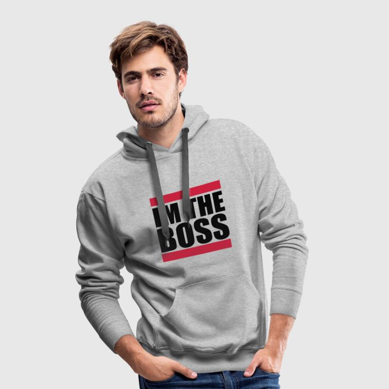 Im the Boss Sweat-shirts - Sweat-shirt à capuche Premium pour hommes