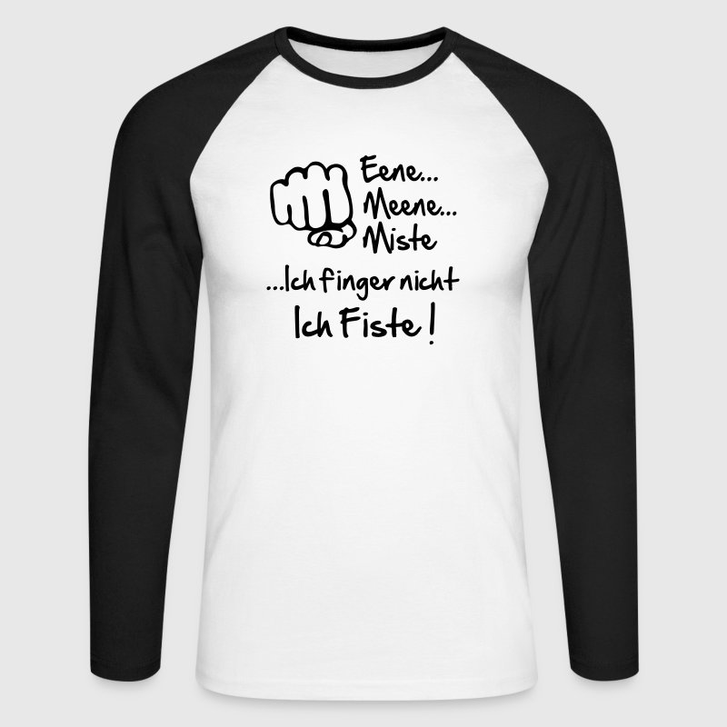 fisting - Men's Long Sleeve Baseball T-Shirt