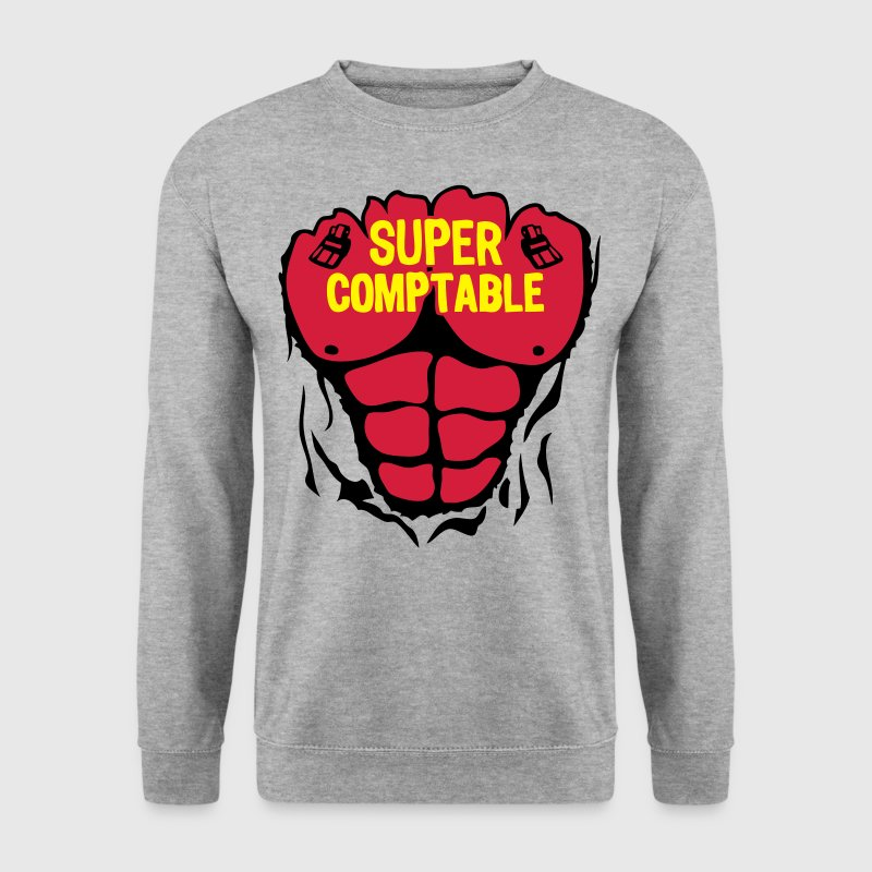 comptable super corps muscle bodybuildin Sweat-shirts - Sweat-shirt Homme