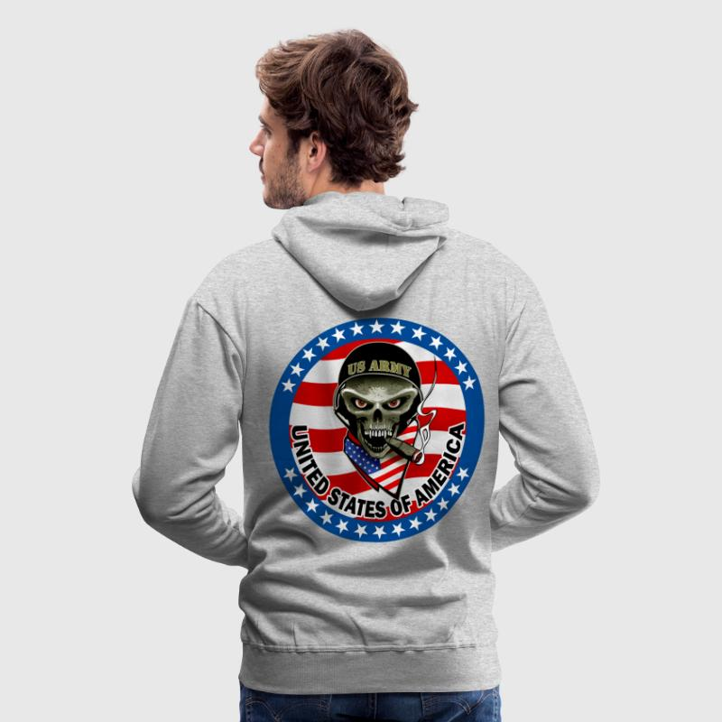 us army design 3 Sweat-shirts - Sweat-shirt à capuche Premium pour hommes