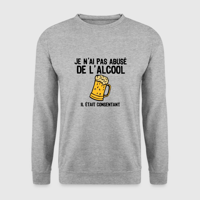 abuse alcool consentant1 biere Sweat-shirts - Sweat-shirt Homme