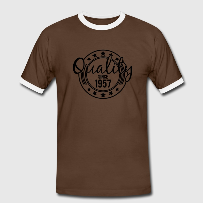 Birthday - Quality since 1957 (nl) T-shirts - Mannen contrastshirt