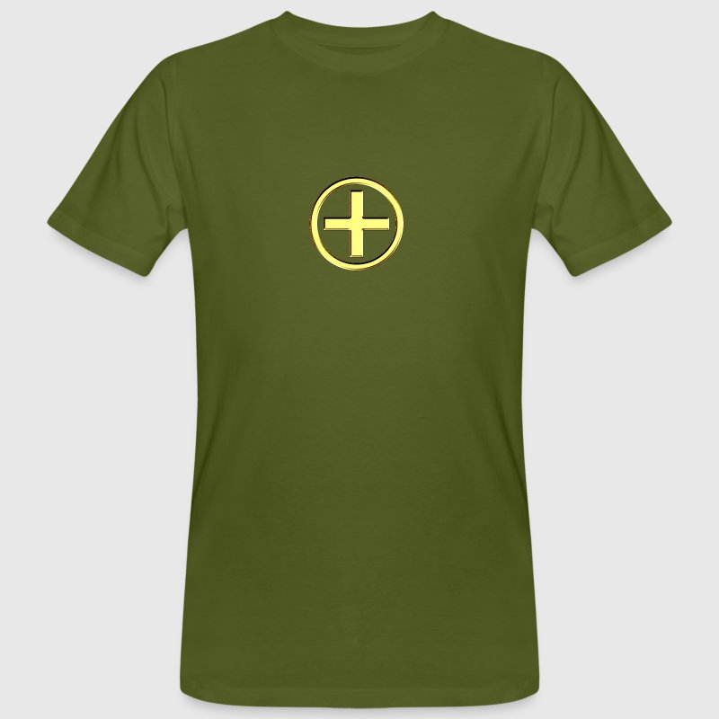 POSITIVE! Energy Symbol, gold, digital, symbol, symbols, powerful, force, sign, icon Mugs  - Men's Organic T-shirt