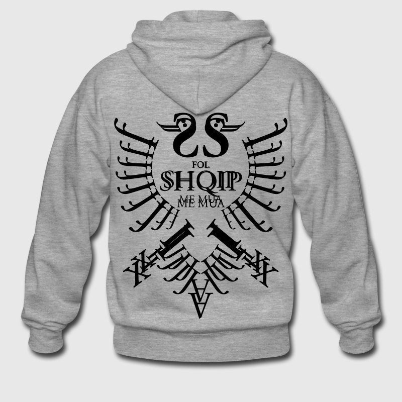 Shqiponja (Buchstaben) - Men's Premium Hooded Jacket
