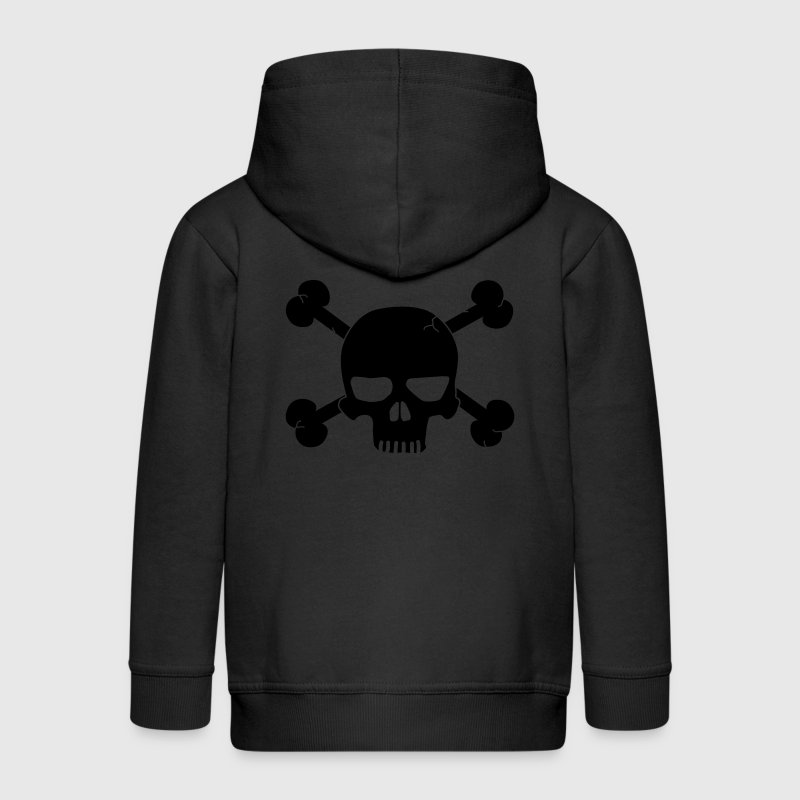 skull with bones / pirate Sweats Enfants - Veste à capuche Premium Enfant