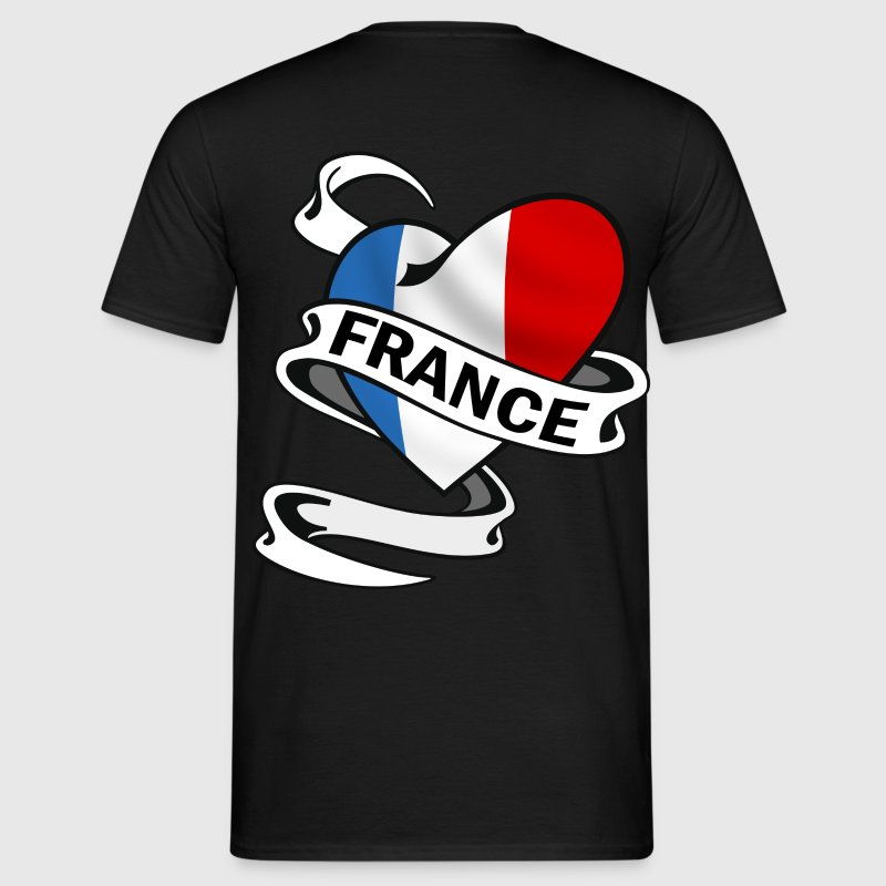 coeur couleurs france Tee shirts - T-shirt Homme