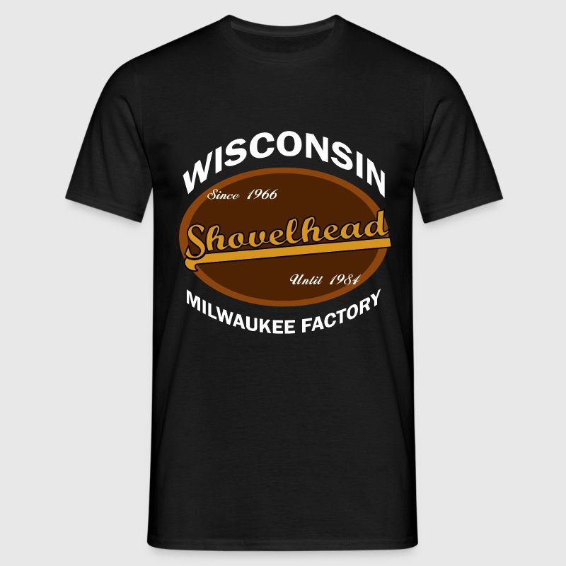 Wisconsin Milwaukee Factory -Shovelhead- - Männer T-Shirt