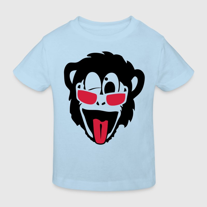 singe gorille monkey tete lunette glass2 Tee shirts Enfants - T-shirt Bio Enfant