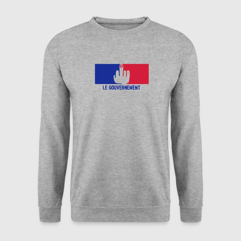 fuck french government flag - Men's Sweatshirt