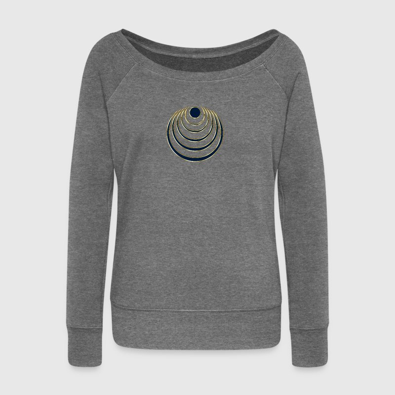 Moon amulet  - intuition, creativity and media skills, digital, protection symbol Sweat-shirts - Pull Femme col bateau de Bella