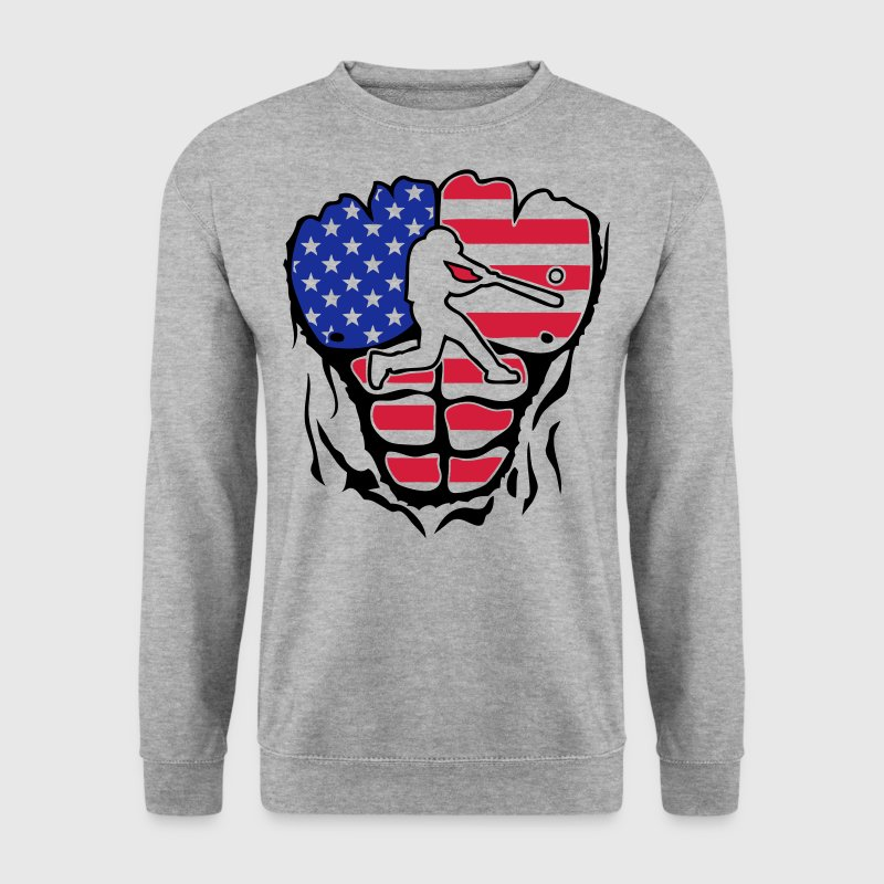 baseball americain corps muscle drapeau Sweat-shirts - Sweat-shirt Homme