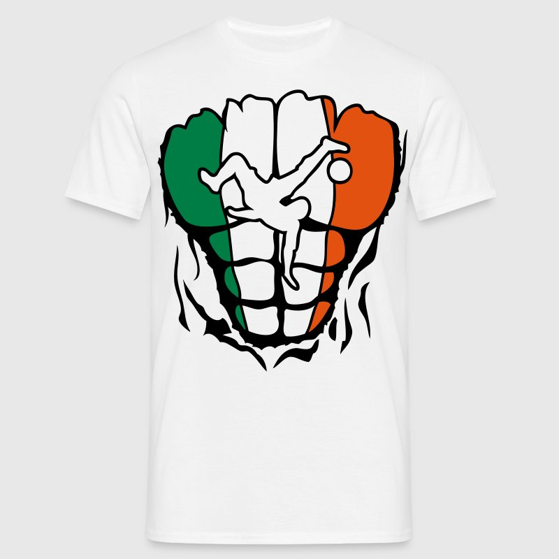 irlande football corps muscle drapeau Tee shirts - T-shirt Homme