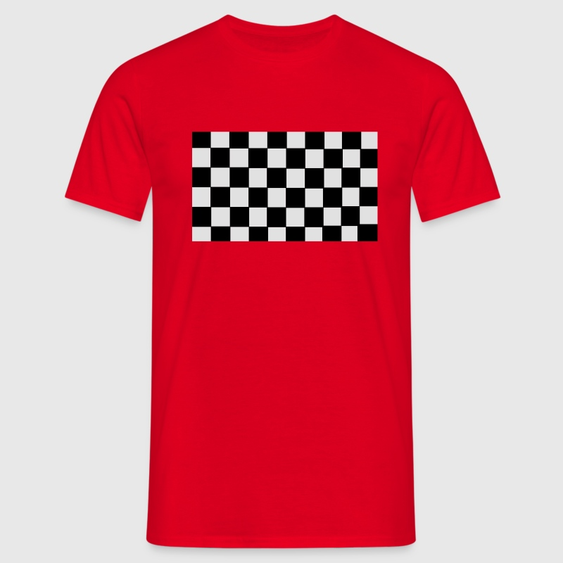 Grand Prix Checkerboard T-Shirts - Men's T-Shirt