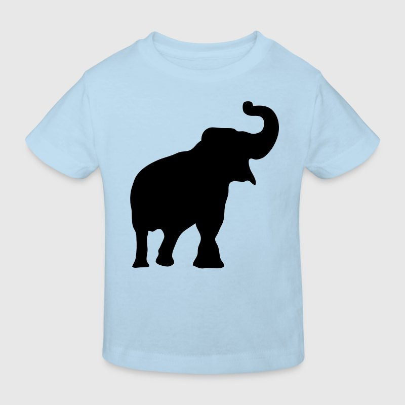 elephant silhouette ombre shadow3 Tee shirts Enfants - T-shirt Bio Enfant