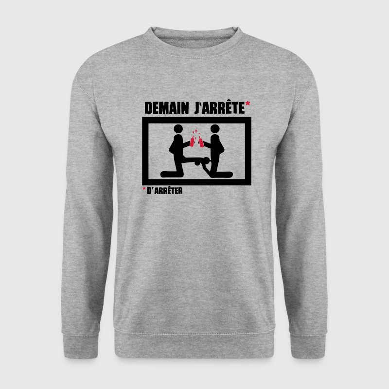 demain arrete baise fuck love1 pipe Sweat-shirts - Sweat-shirt Homme