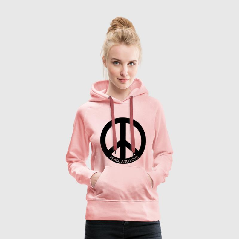 Sweat-shirt à capuche Femme Peace and Love - Sweat-shirt à capuche Premium pour femmes