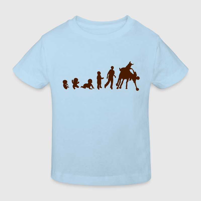 evolution horseball cheval cavalier1 Tee shirts Enfants - T-shirt Bio Enfant