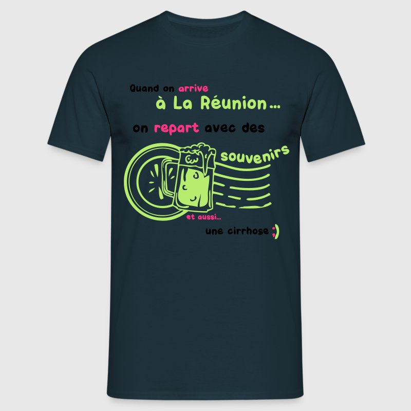 reunion souvenirs cirrhose biere tampon alcool Tee shirts - T-shirt Homme