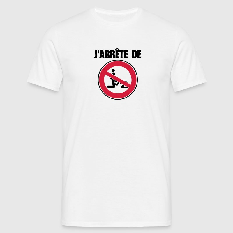 arrete de sucer la pipe panneau interdiction Tee shirts - T-shirt Homme