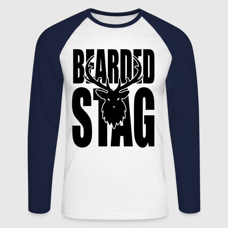 The BEARDED Stag! Long sleeve shirts - Men's Long Sleeve Baseball T-Shirt
