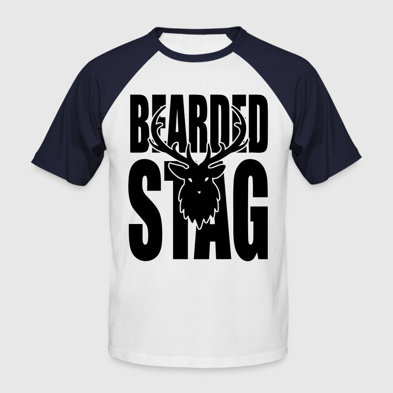 The BEARDED Stag! T-Shirts - Men's Baseball T-Shirt