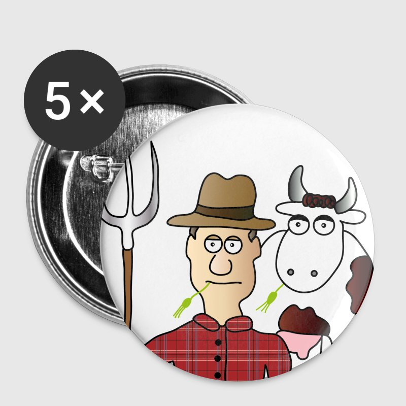 Farmer Buttons/Badges - Buttons/Badges lille, 25 mm
