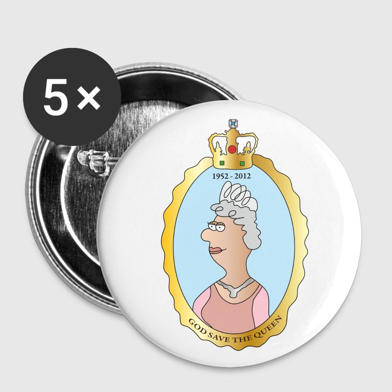 Queen Elizabeth II Buttons - Buttons small 25 mm