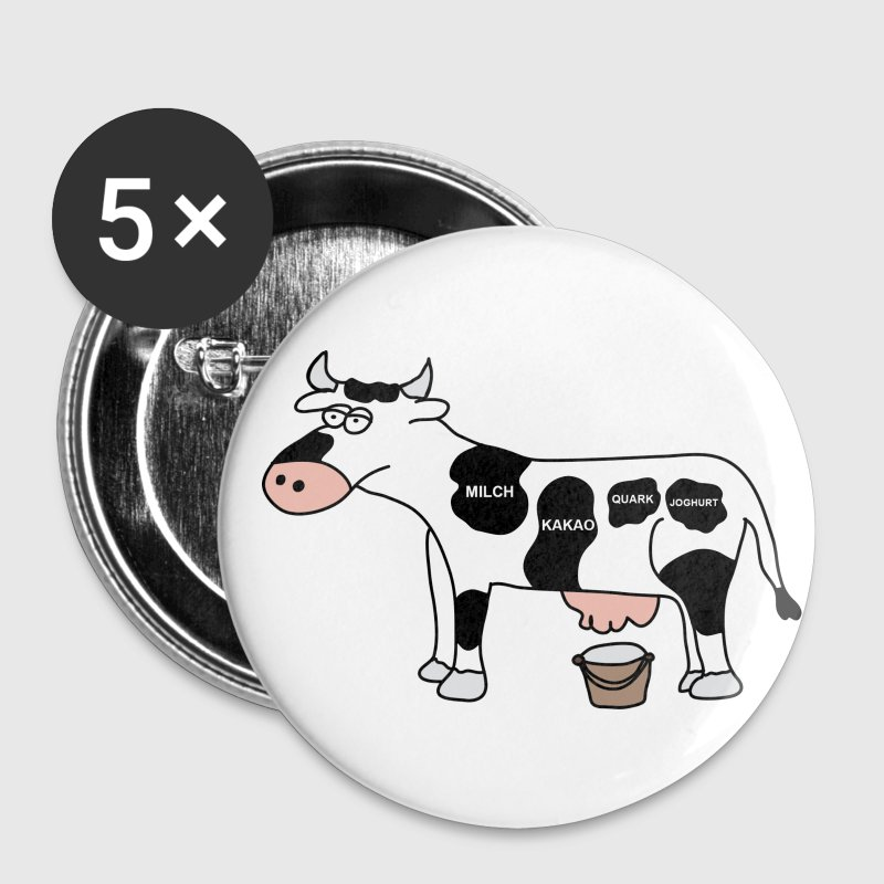 Kuh Buttons / Anstecker - Buttons klein 25 mm