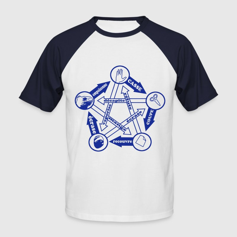 pierre papier ciseau lézard spock by Customstyle Tee shirts - T-shirt baseball manches courtes Homme