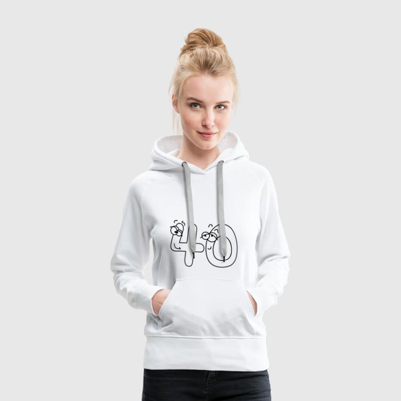 40 or forty Hoodies & Sweatshirts - Women's Premium Hoodie