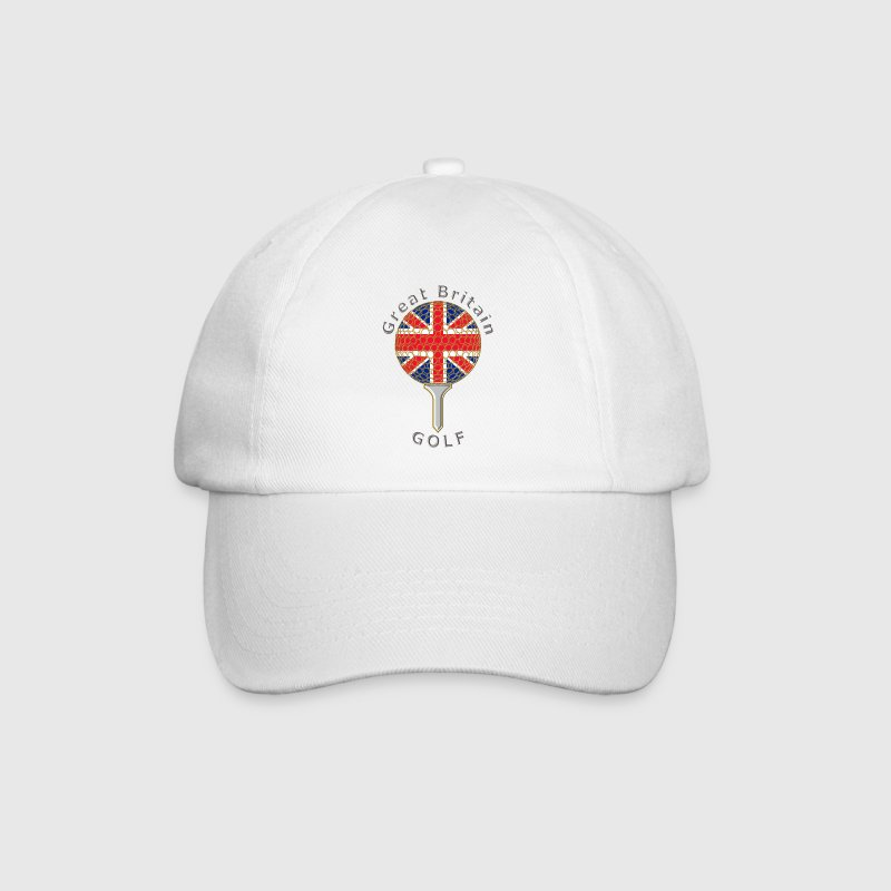 great britain union jack golf logo Caps & Hats - Baseball Cap