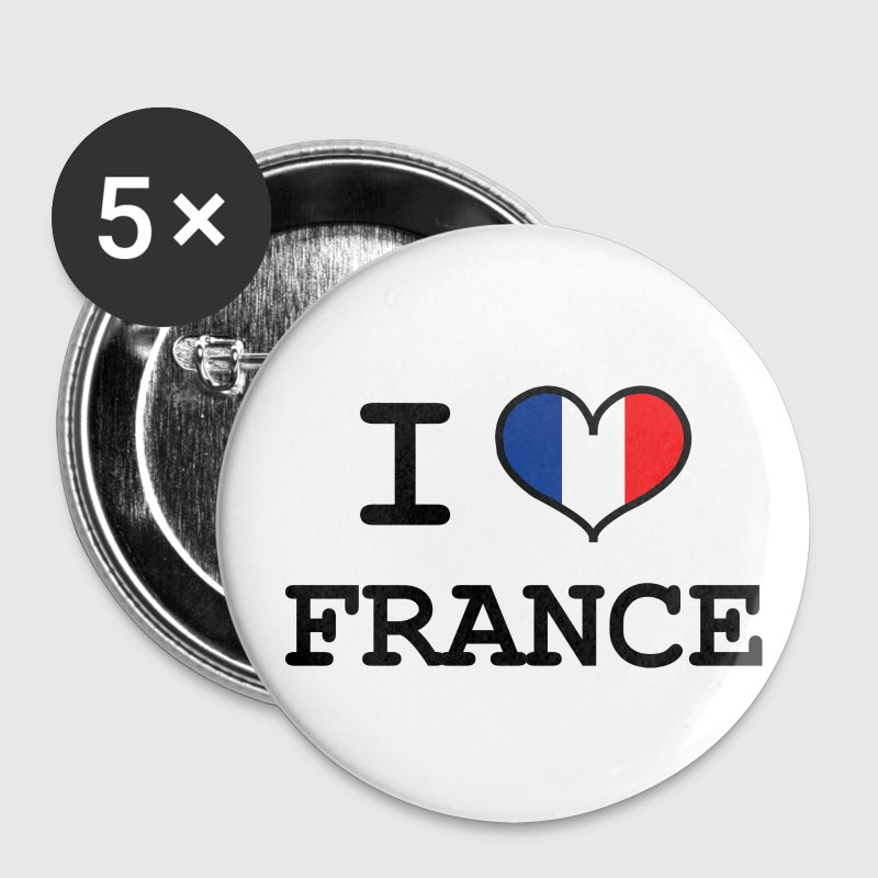 I Love France Badges - Badge petit 25 mm
