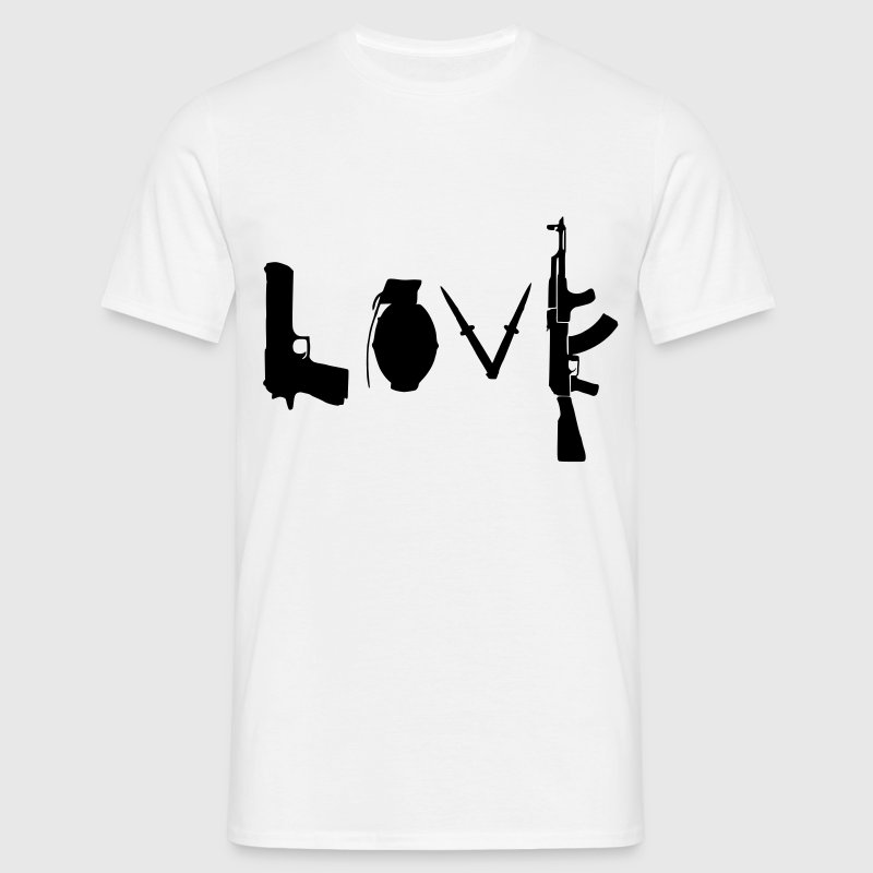 Love / Weapon Design - Men's T-Shirt