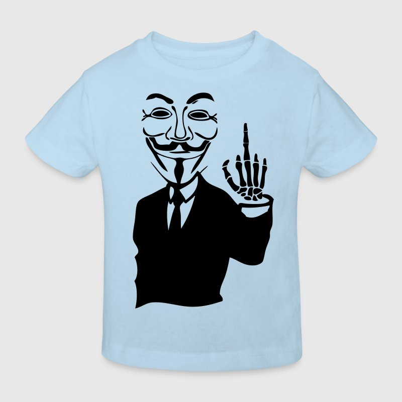 anonymous mask mask hand hand sq fuck5 - Kids' Organic T-shirt