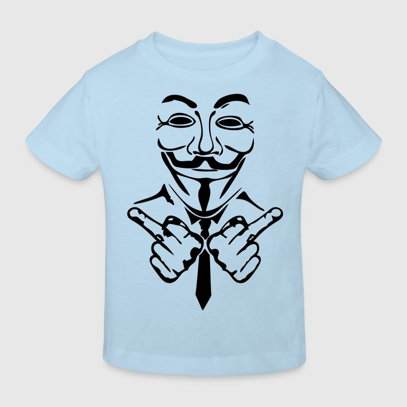anonymous masque mask fuck3 Tee shirts Enfants - T-shirt Bio Enfant