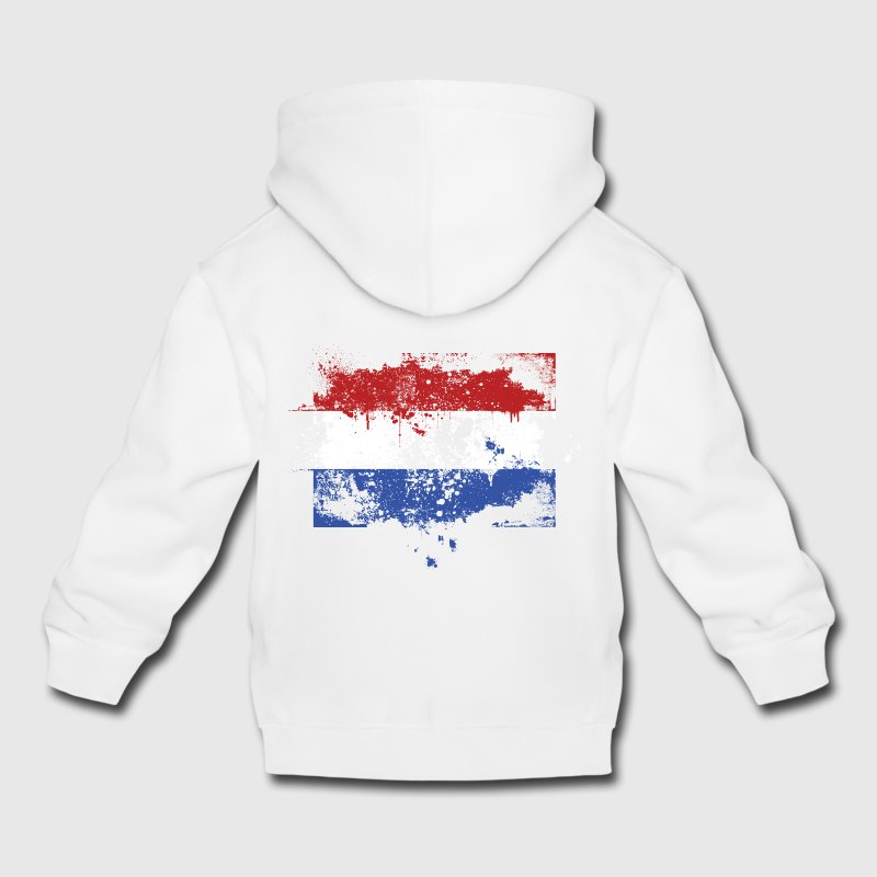 Dutch flag grunge graffiti style Orange pride Kids' Tops - Kids' Premium Hoodie