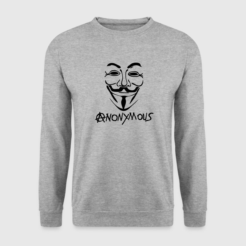 logo anarchy anonymous masque mask Sweat-shirts - Sweat-shirt Homme