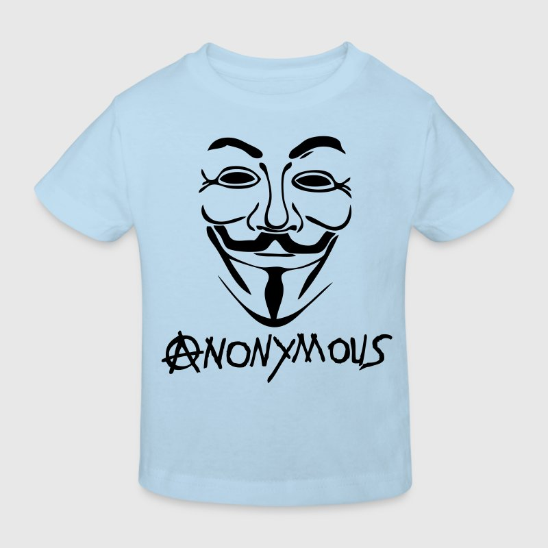 logo anarchy anonymous masque mask Tee shirts Enfants - T-shirt Bio Enfant