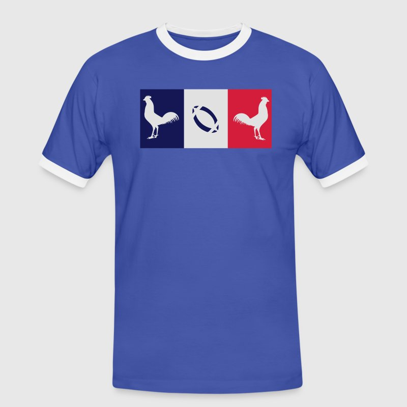 supporter_rugby_france coq gaulois Tee shirts - T-shirt contraste Homme