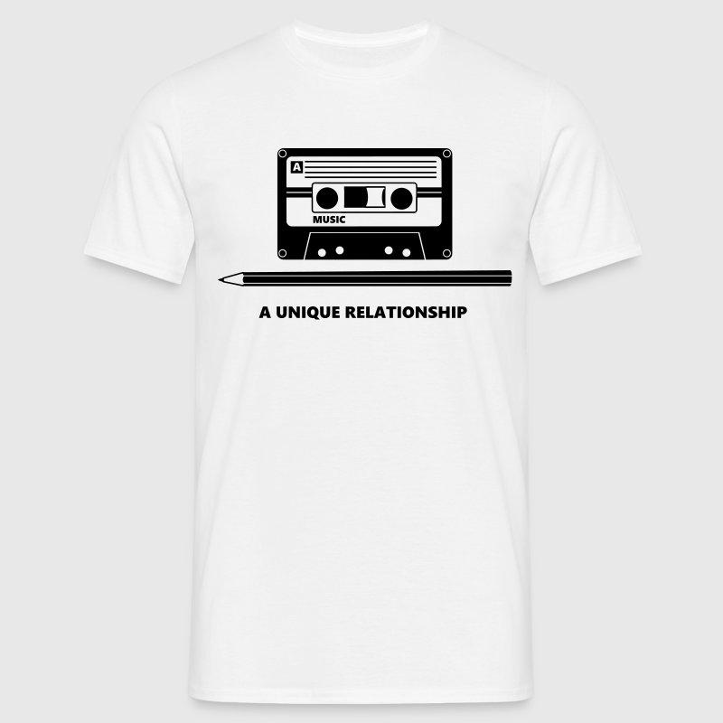 Kassette Stift Tape Pencil Relationship T-shirt - Maglietta da uomo